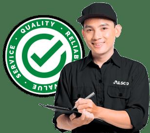 Friendly customer service by Alsco China
