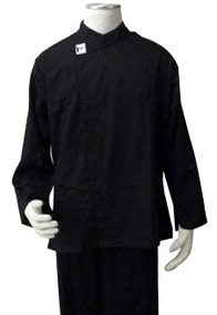 Black Polycotton Long Sleeve Chef's Jacket