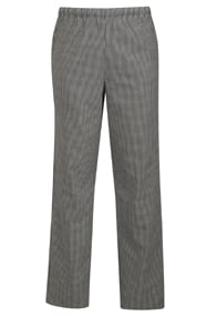 Alsco Black/White Check Polycotton Trouser
