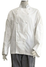 White Polycotton Female Chef's Jacket