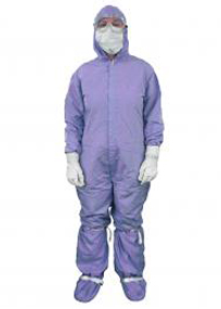 Alsco Barrier Coverall - Hood, Knit Cuffs at Wrist, Clip Closure at Ankle, and Thumb Loops