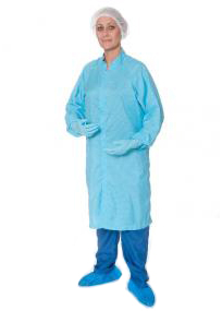 Alsco Smock - Knit Cuffs and Stainless Steel Clip Front Closure to Neck
