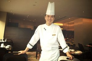 Male chef smiling
